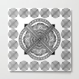 Mandala Marrakech Metal Print