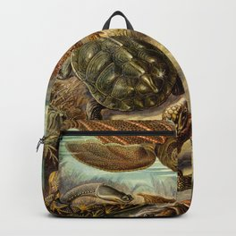 Sea Turtle Collage-Ernst Haeckel Backpack