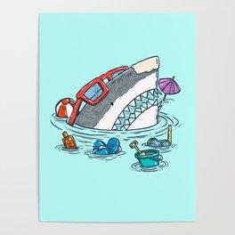 Beach Party Shark Poster