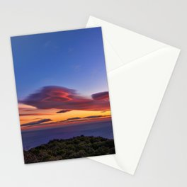 Lenticular Cloud Red Sunset Photographic Landscape Stationery Cards