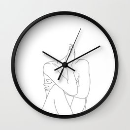 Nude life drawing figure - Celina Wall Clock