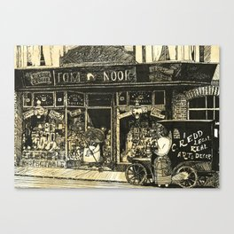 Nook's Grocery and C. Redd's Mobile Art Emporium Canvas Print