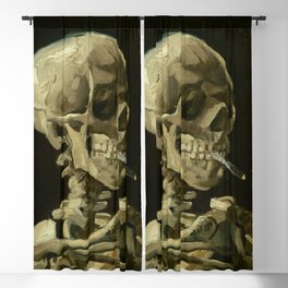 Vincent van Gogh - Skull of a Skeleton with Burning Cigarette Blackout Curtain