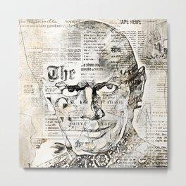 Stars And Medias Yul Brynner Metal Print