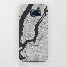 New York Map Gray Slim Case Galaxy S8