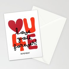 Love You Forever Stationery Cards