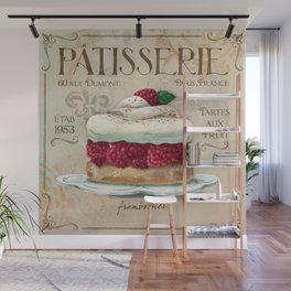 French Patisserie Art, Framboisier Wall Mural