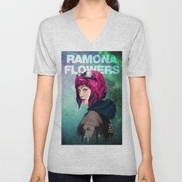 Ramona Flowers Unisex V-Neck