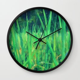 Grasslands in the Himalayan Foothills Wall Clock