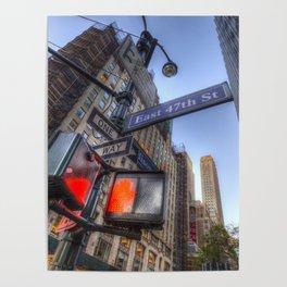 New York Street Sign Poster
