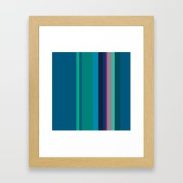 Spring collection - green - strips Framed Art Print