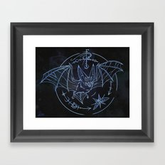 Bat Patronus Glyph Framed Art Print