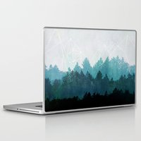 mountain Laptop & iPad Skins featuring Woods Abstract  by Mareike Böhmer