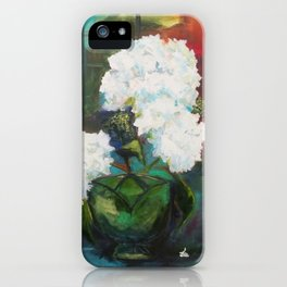 White Hydrangeas iPhone Case