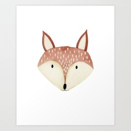 Fox Nursery Art Print