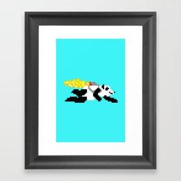 jetpack panda. Framed Art Print