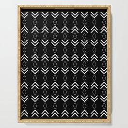 Tribal Pattern Aztec #2 #minimal #decor #art #society6 Serving Tray