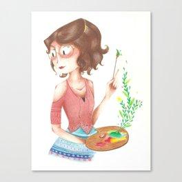 Simone painting Canvas Print