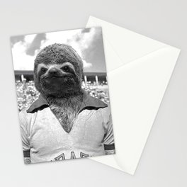 Footballer Sloth playing for Brazil Stationery Cards