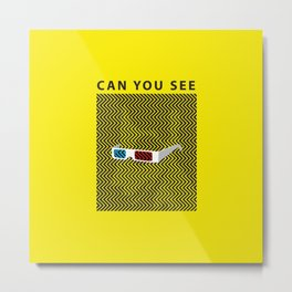 Can you see it? A 3d optical experience Metal Print