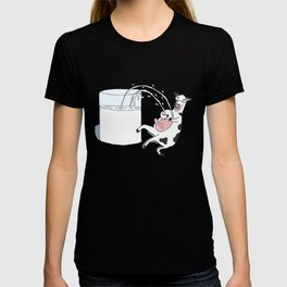 Crazy Cow Spraying Milk! T-shirt