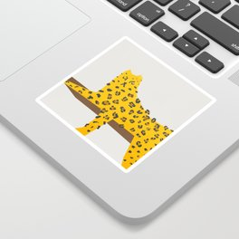 Leopard Lazy Sticker