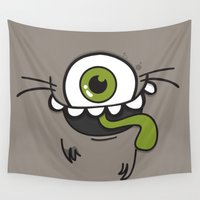 monster Wall Tapestries featuring Monster by Silvia Pietra