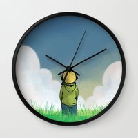 relax Wall Clocks featuring Relax by Janko Illustration