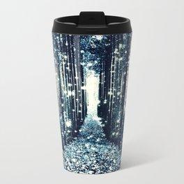 Magical Forest Teal Gray Elegance Travel Mug