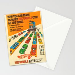 1970 American Issue Vintage Hot Wheels Redline Factory Poster Stationery Cards
