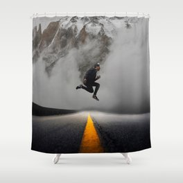 Magnetic Levitation - Power Mountain by GEN Z Shower Curtain