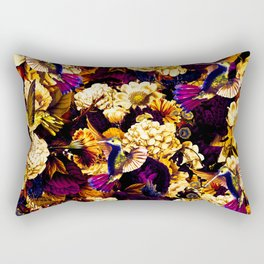 hummingbird paradise ethereal autumn flower pattern ls Rectangular Pillow