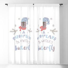 A Snowflake is Winter's Butterfly Blackout Curtain