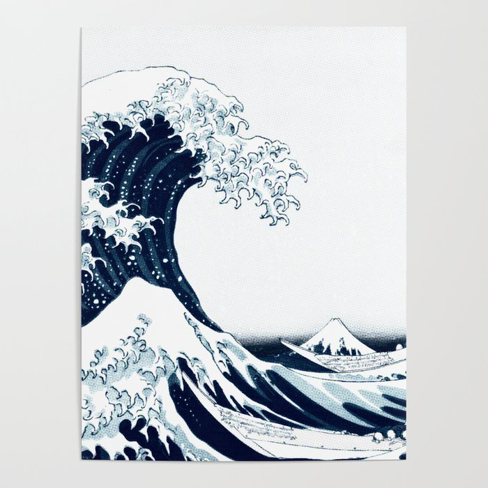 The Great Wave - Halftone Poster
