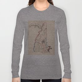 Vintage Map of New Hampshire (1819) Long Sleeve T-shirt