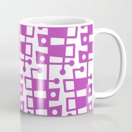 Mid Century Modern Abstract 213 Magenta Coffee Mug