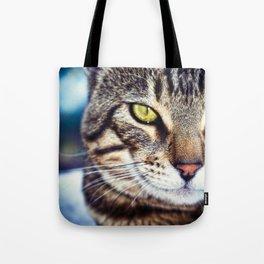 Bengal Tom Tabby Cat Portrait Tote Bag