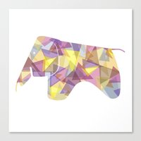 eames Canvas Prints featuring Eames Elephant by Melissa Nocero