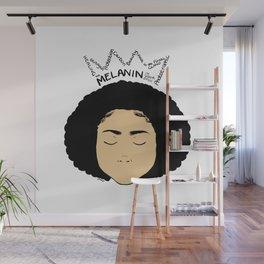 Melanin Crown - Girl 6 - Digital Illustration - Afro Wall Mural