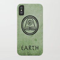 avatar the last airbender iPhone & iPod Cases featuring Avatar Last Airbender Elements - Earth by bdubzgear
