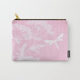 Butterfly in meadow- pink pattern  Carry-All Pouch