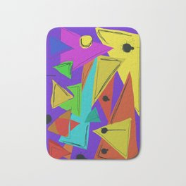 Cages at the Border #Abstract #Geometric #PoliticalArt Bath Mat