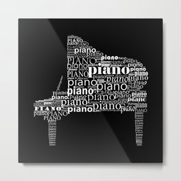 Invert Piano Metal Print