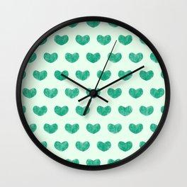 Cute Hearts V Wall Clock