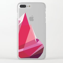 TheRosaDiamonds Clear iPhone Case