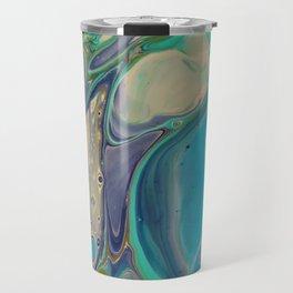 Fluid Abstract - Blue and Purple Travel Mug