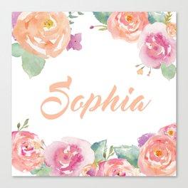 Sophia Typography Canvas Print