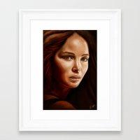 jennifer lawrence Framed Art Prints featuring Jennifer Lawrence by The Art of Vancuf