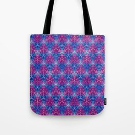D20 Icosahedron Mandala Pattern Tote Bag