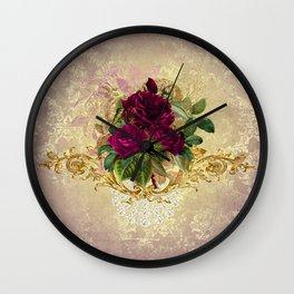 Decadent Velvet Rose Wall Clock